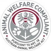 Одобрено Организацией по защите животных (Австрия)